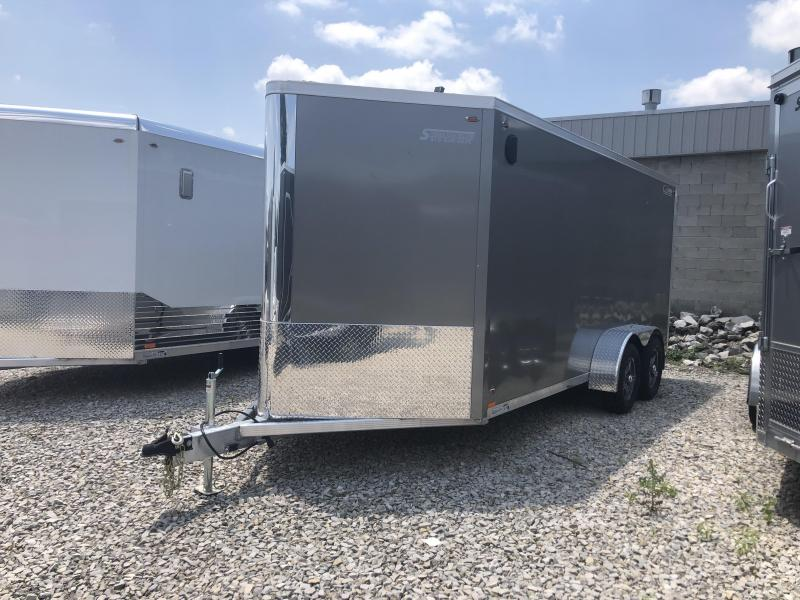 2020 7x16 +3 foot Vnose Legend Flat Top V-Nose Cargo Enclosed. 17281
