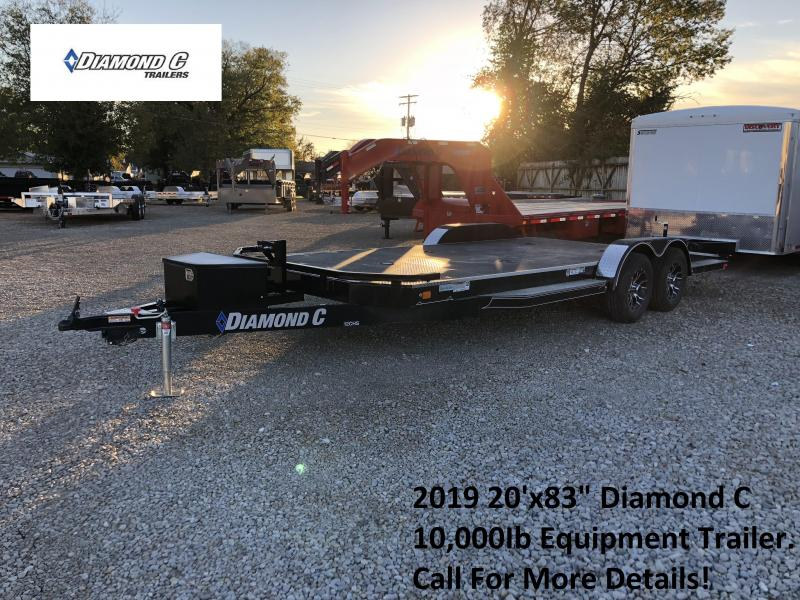 "2019 20'x83"" 10K Diamond C Equipment Trailer. 5612"