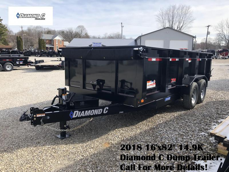 "2018 16'x82"" 14.9K Diamond C Dump Trailer. 98151"