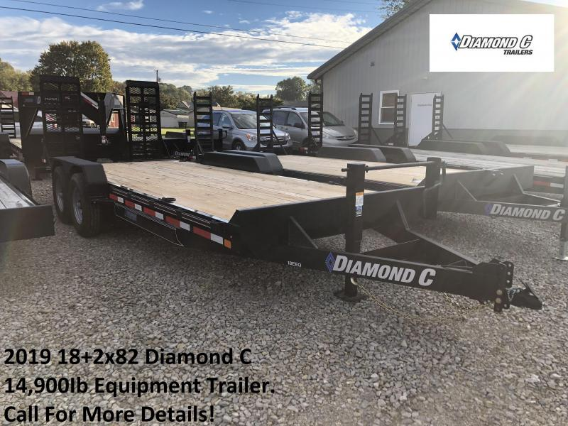 2019 18+2x82 14.9K Diamond C Equipment Trailer. 6301