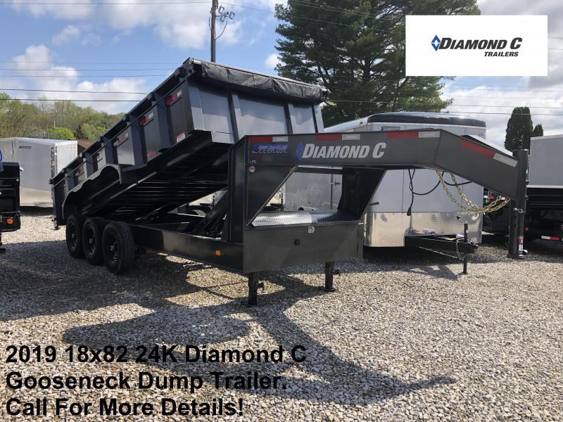 2019 18x82 24K Diamond C GN Dump Trailer. 11296