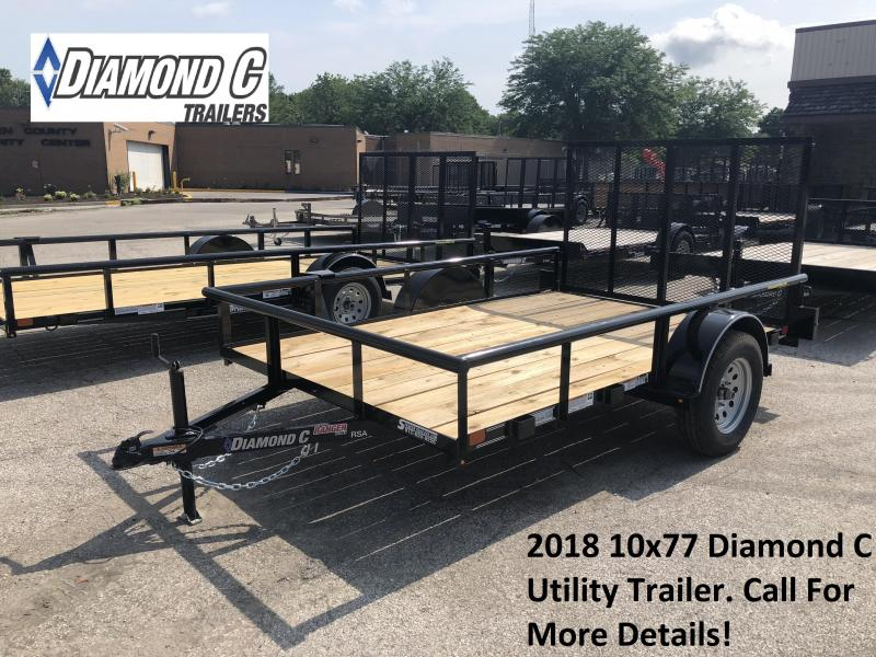 2018 10x77 Diamond C Utility Trailer. 2605