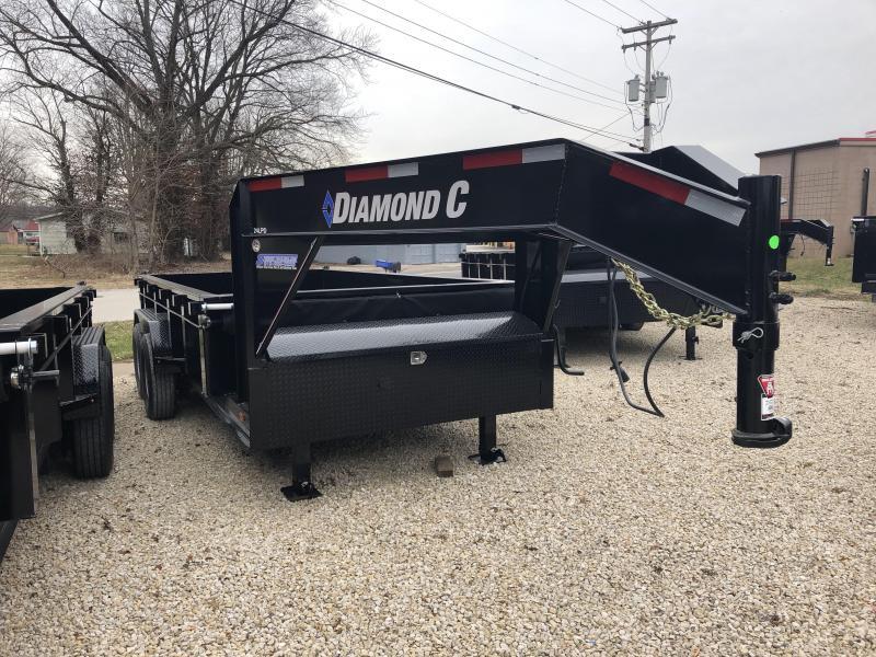 "2019 82""x14' 14900lb GVWR Diamond  C Low-Pro Gooseneck Dump. 08641"