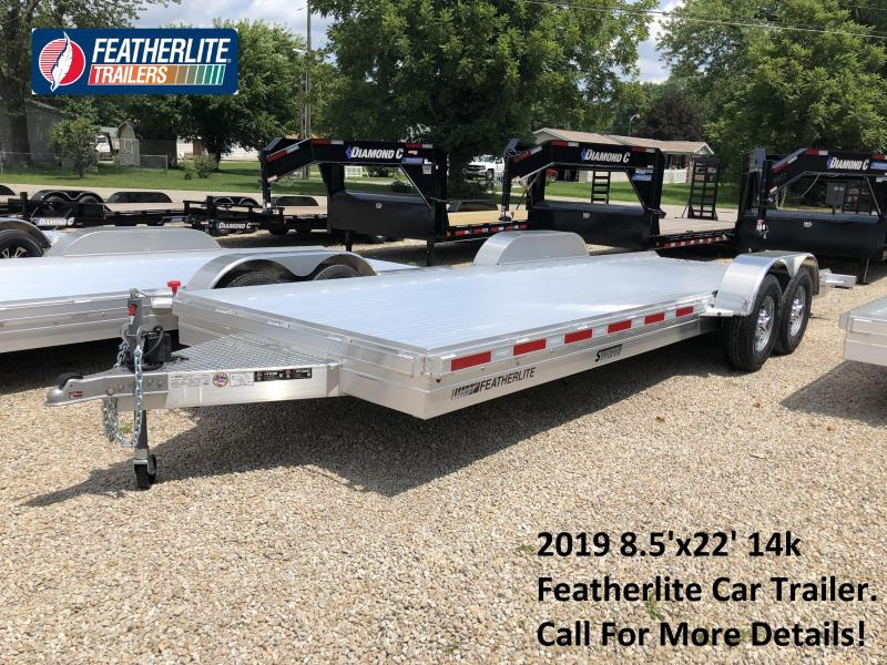 2019 8.5'x22' 14k Featherlite Car Trailer. 149714