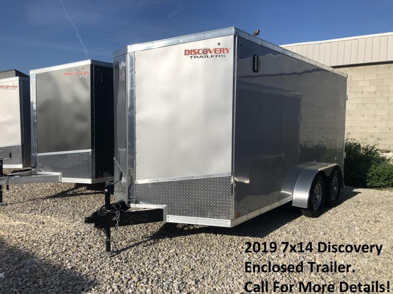 2019 7x14 Discovery Enclosed Trailer. 2642