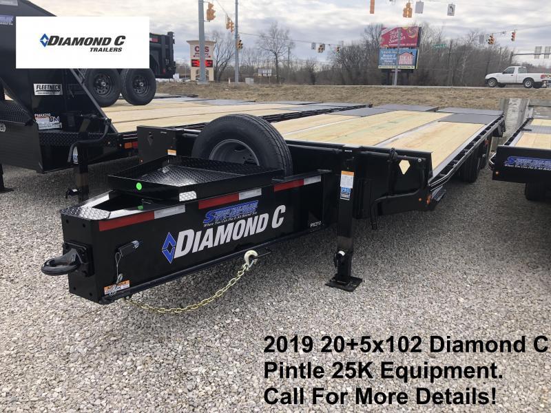 2019 20+5x102 25K Diamond C Engineer Beam Pintle Equipment Trailer. 10571