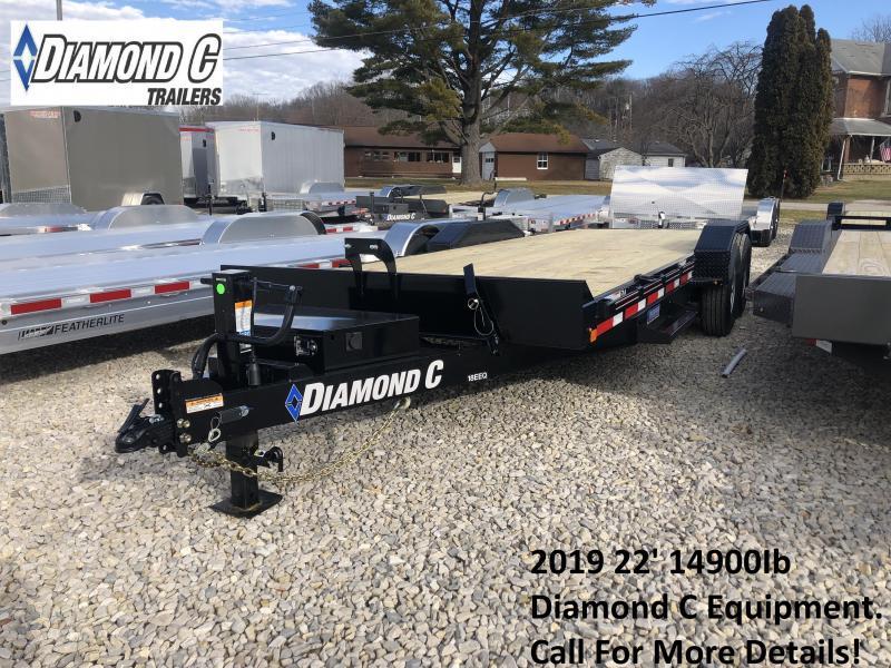 2019 22' 14.9K Diamond C Equipment Trailer. 8918
