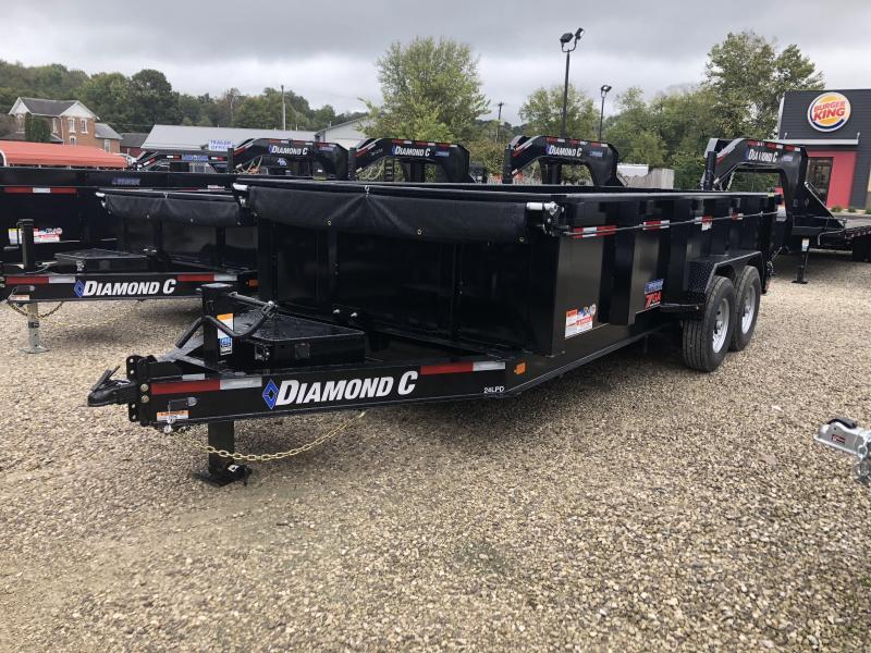 2019 16x82 14.9K Diamond C Dump Trailer. 5825