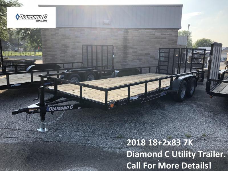 2018 83x18+2 7K Diamond C Utility Trailer. 2797