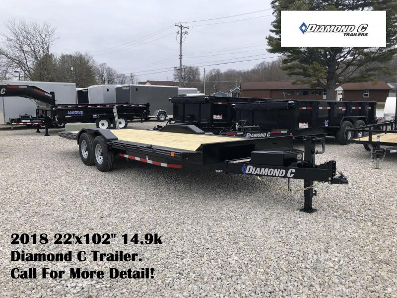 "2018 22'x102"" 14.9k Diamond C Equipment Trailer. 98939"