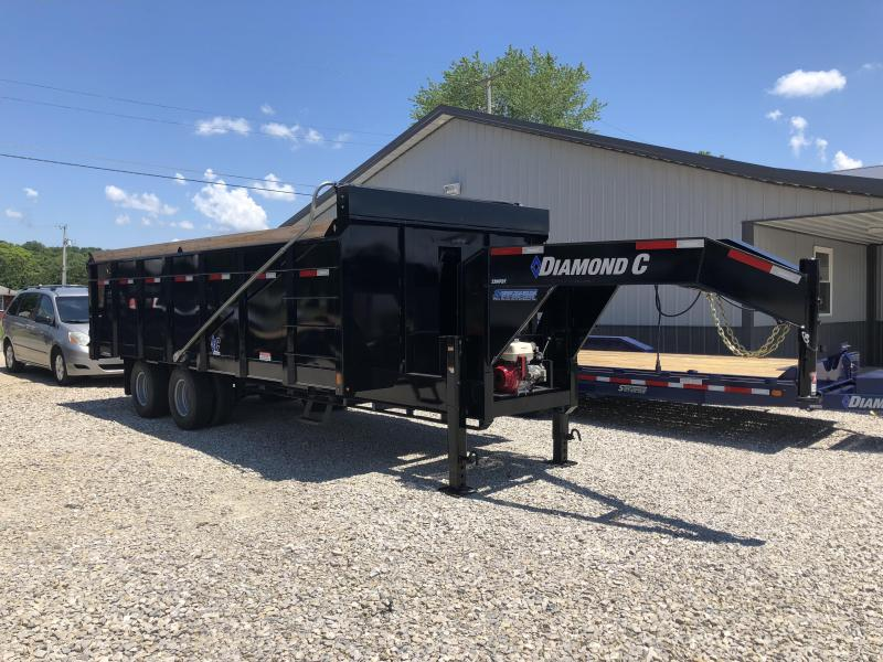 "2018 20'x96"" 25K Diamond C GN Dump Trailer. 98652"