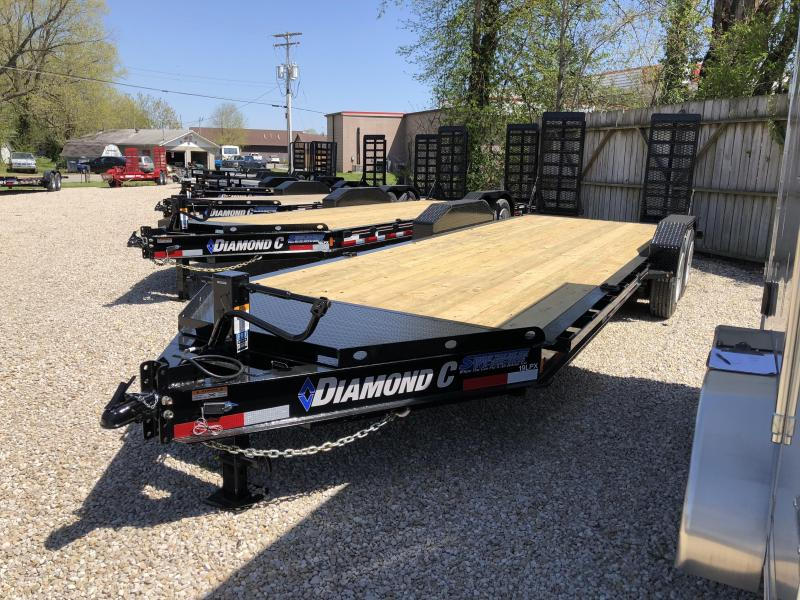 2018 20+2 14900lb GVWR Diamond C Low-Pro Equipment Trailer. 00280