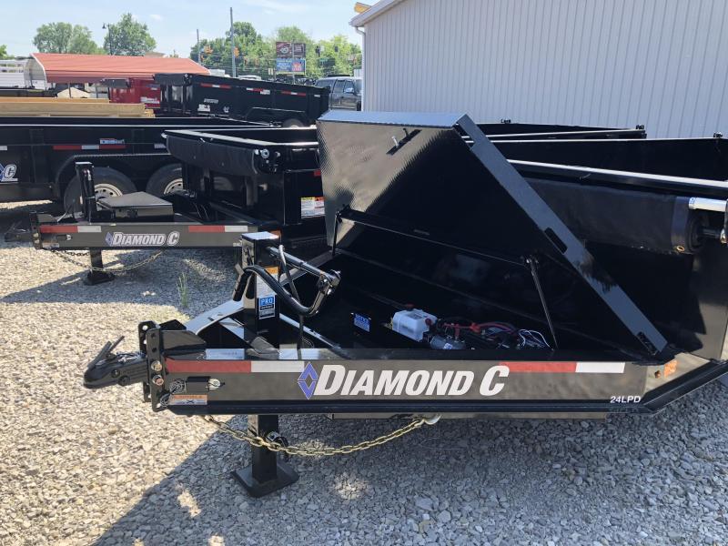 """2018 16'x82"""" 14.9k Diamond C Dump Trailer. 00564"""