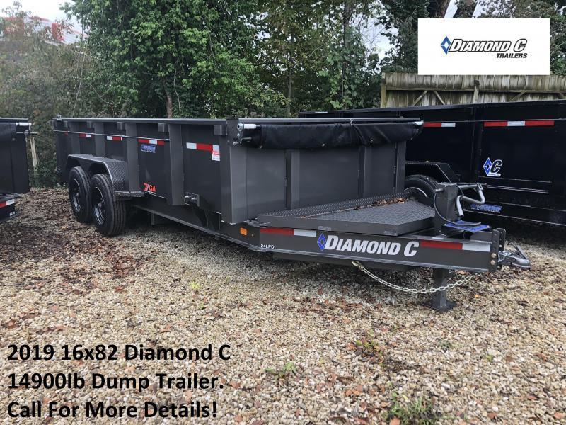 2019 16x82 14.9K Diamond C Dump Trailer. 4543