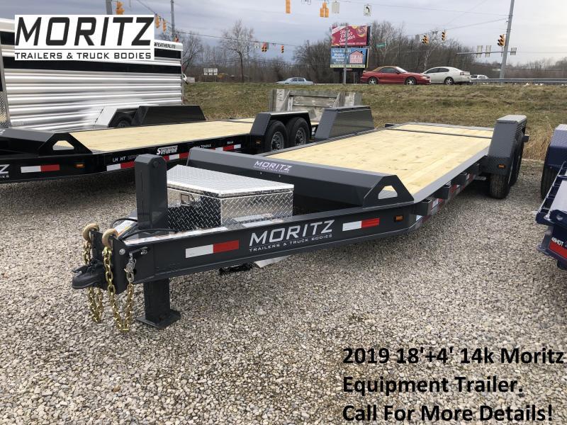 2019 18'+4' 14k Moritz Equipment Trailer. 34977