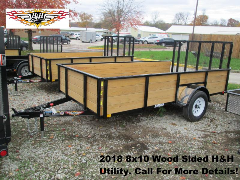 2018 8' x 10' Wood Sided H&H Utility. 76526