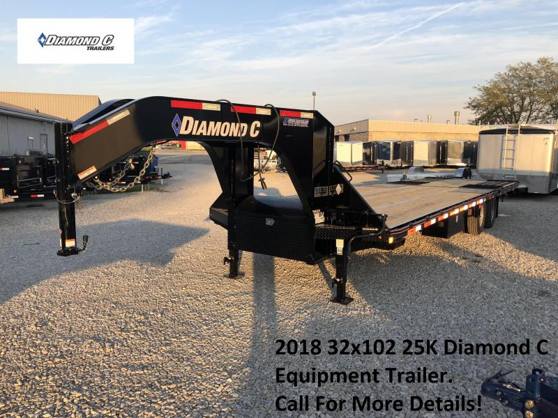 2018 20+12x102 25K Diamond C Equipment Trailer. 98742