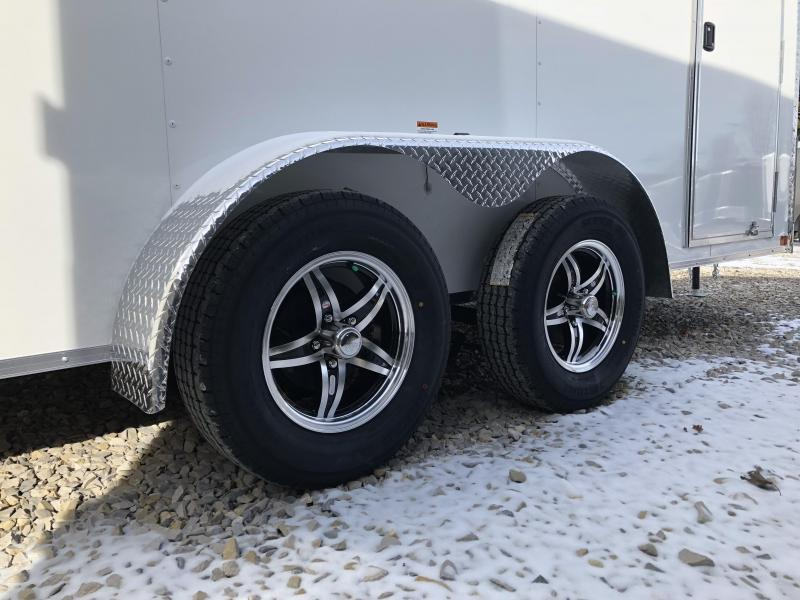 2018 MVM7 7x14 7k Enclosed Cargo Trailer. 1258 (white)