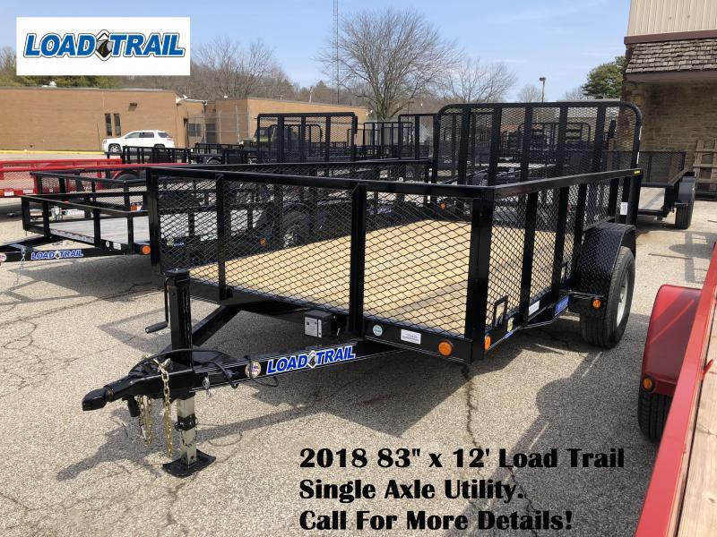 "2018 83"" x 12' Load Trail Single Axle Utility. 59429"