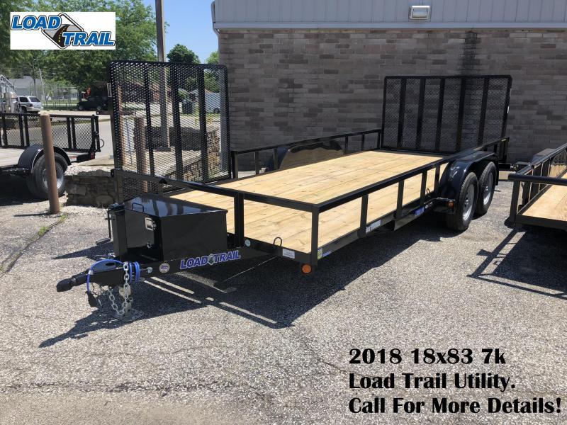 2018 18x83 7k Load Trail Utility Trailer. 64897