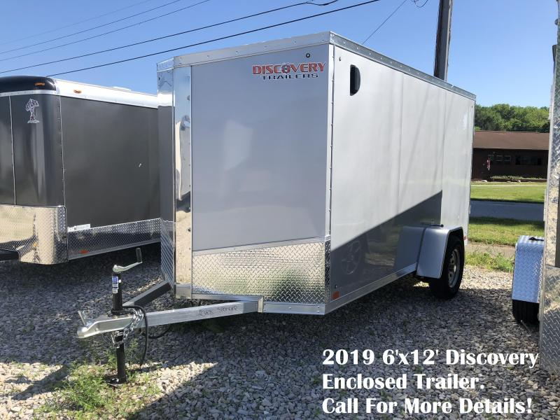 2019 6'x12' Discovery Enclosed Trailer. 2388