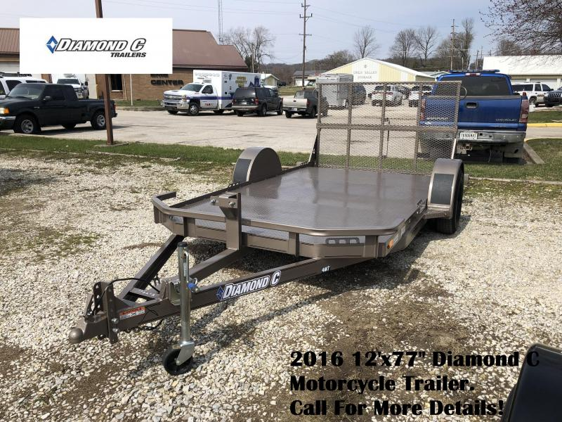 "2016 12'x77"" Diamond C Motorcycle Trailer. 79292"
