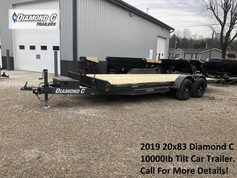 2019 20x83 10K Diamond C Tilt Car Trailer. 07540