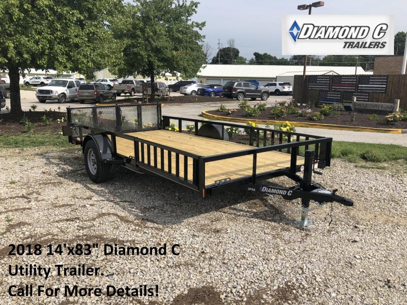 "2018 14'x83"" Diamond C Utility Trailer. 4602"