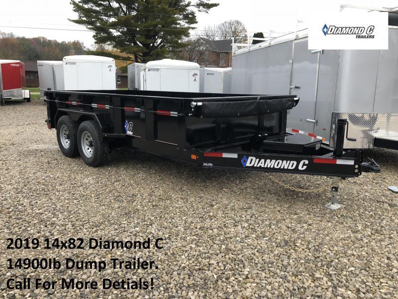 2019 14x82 14.9K Diamond C Dump Trailer. 7441