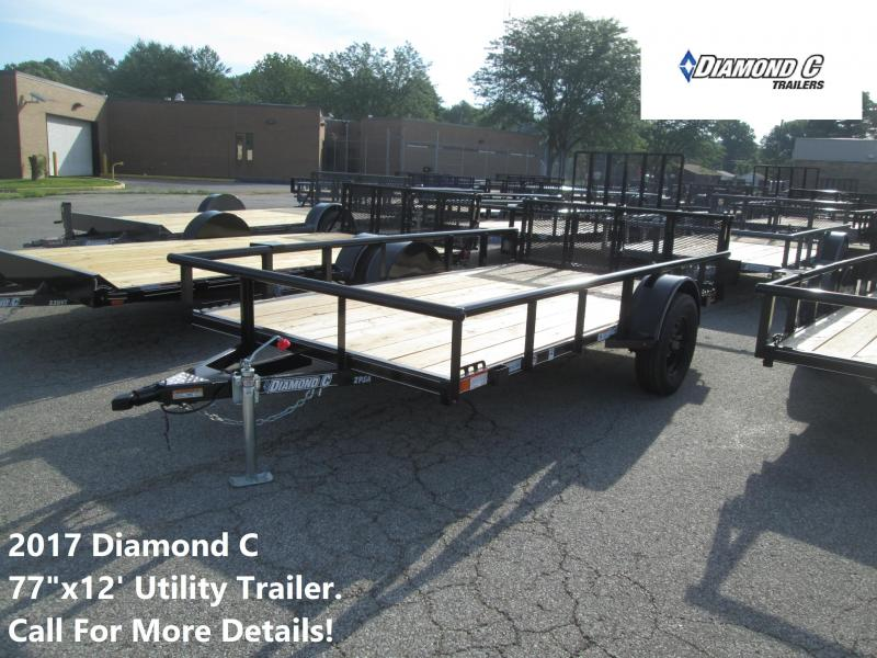 2017 77x12 Diamond C Utility Trailer. 89077