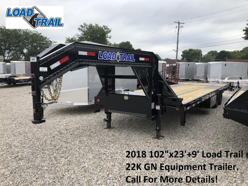 "2018 102""x23'+9' 22K Load Trail GN Equipment Trailer. 69931"