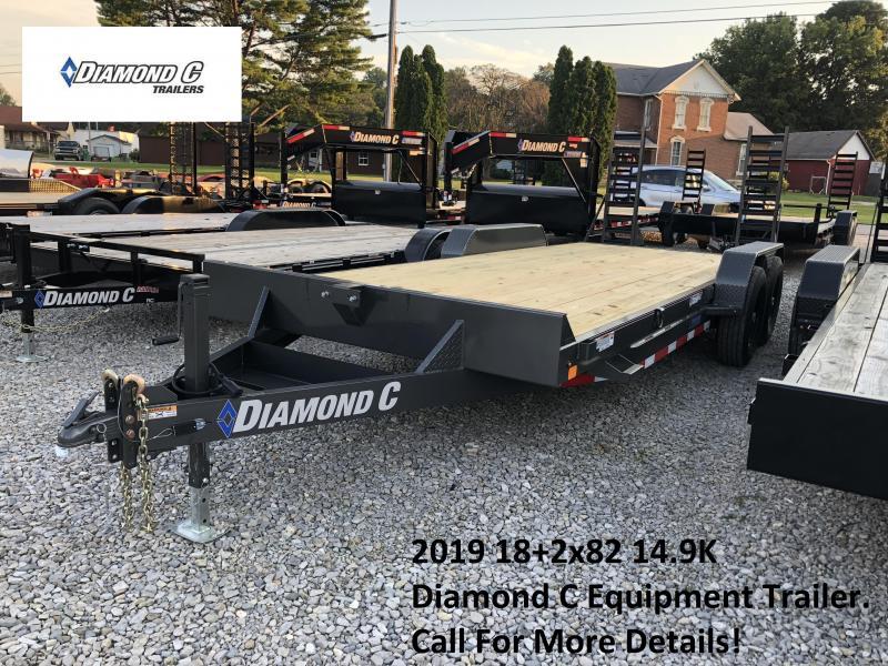 2019 18+2x82 14.9K Diamond C Equipment Trailer. 4751