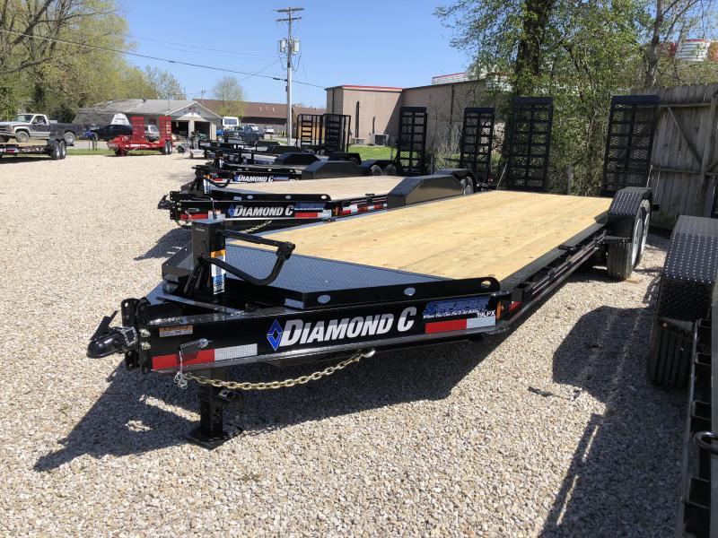 2018 20+2 14900lb GVWR Diamond C Low-Pro Equipment Trailer. 00279
