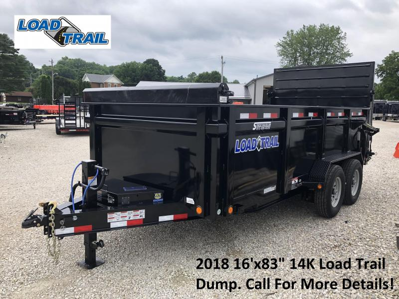 "2018 16'x83"" 14K Load Trail Dump Trailer. 65360"