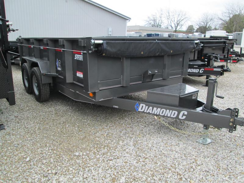 2019 14x82 14.9K Diamond C Dump Trailer. 6056