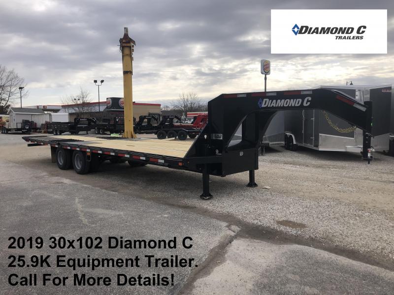 2019 30x102 25.9K Diamond C Engineered Beam GN Equipment Trailer. 11144