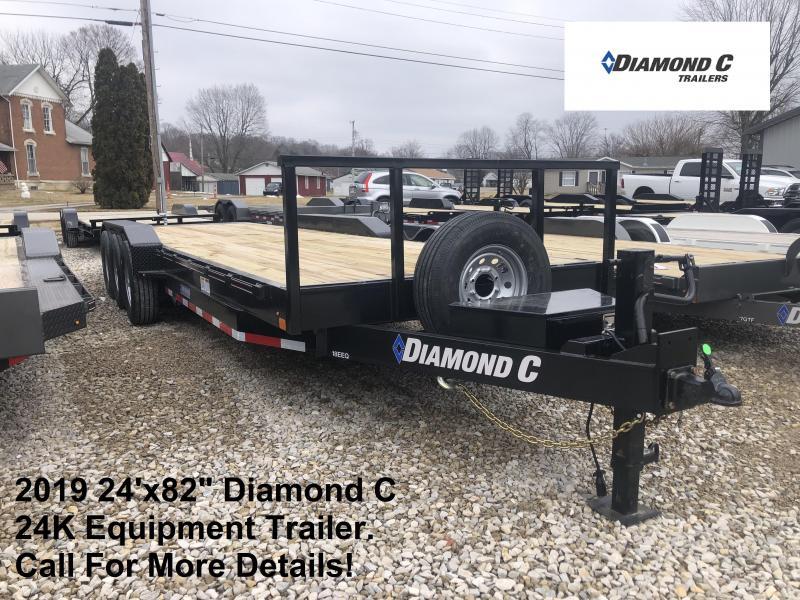 "2019 24'x82"" 24K Diamond C Equipment Trailer. 08210"