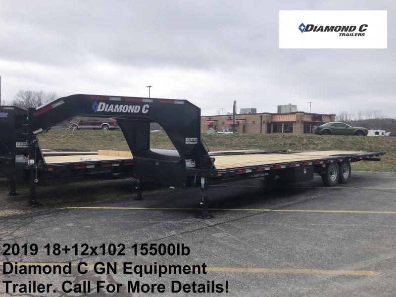 2019 18+12x102 15.5K Diamond C Engineer Beam GN Equipment Trailer. 10476