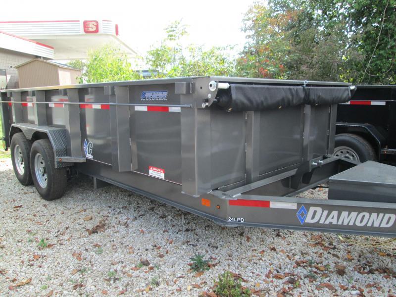 "2019 82""x16' 14900lb GVWR Diamond C Low-Pro Heavy Duty Dump. 05931"