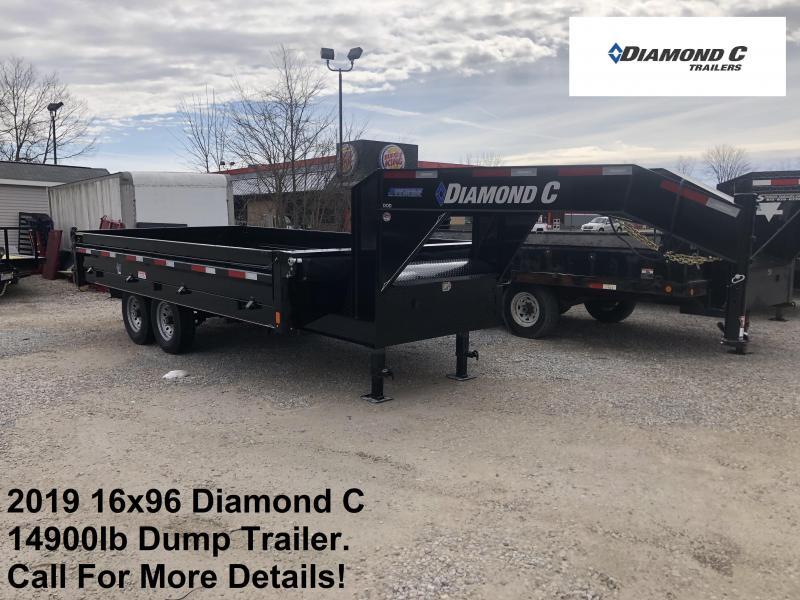 2019 16x96 14.9K Diamond C GN Dump Trailer. 10415