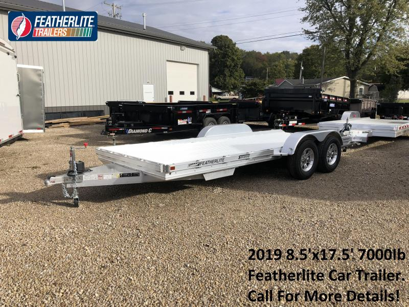 2019 8.5'x17.5' 7K Featherlite Car Trailer. 149710