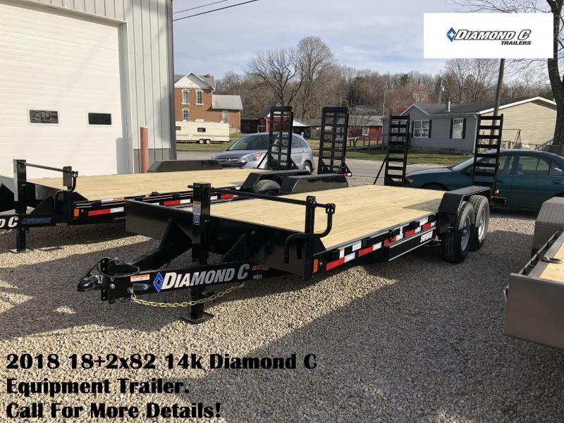 2018 18+2x82 14k Diamond C Equipment Trailer. 97882
