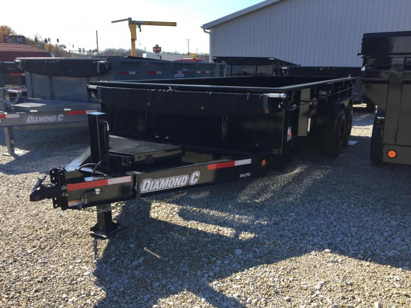 "2017 82"" x 16' 14900lb GVWR Diamond C Dump Trailer. 92424"