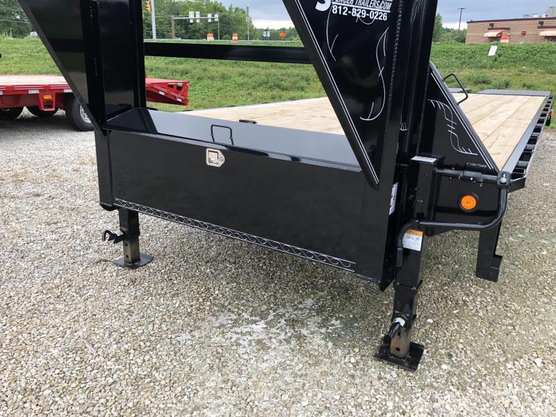 "2018 102""x21'+5' 14K Load Trail GN Equipment Trailer. 66636"