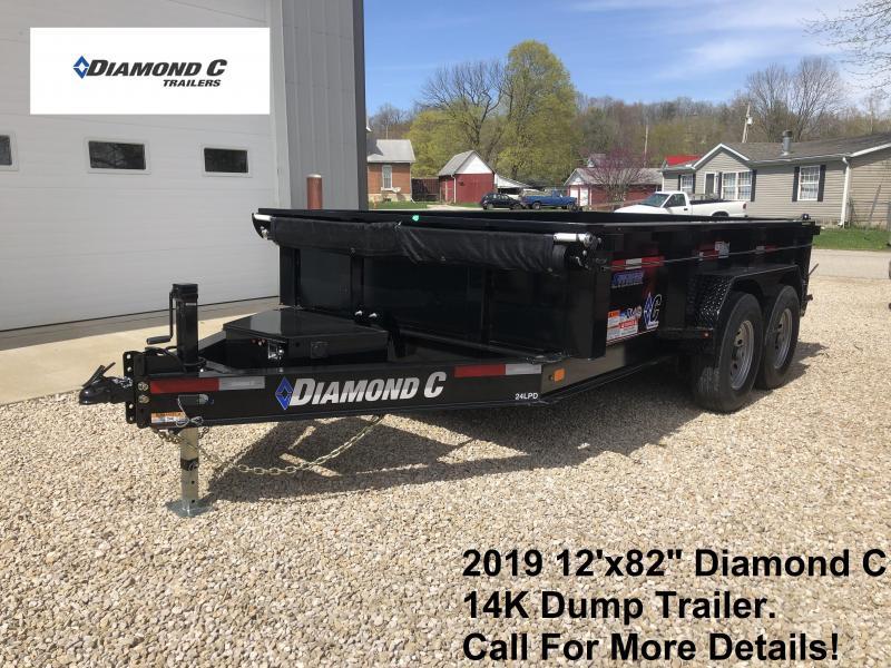"""2019 12'x82"""" 14K Diamond C Dump Trailer. 9697"""