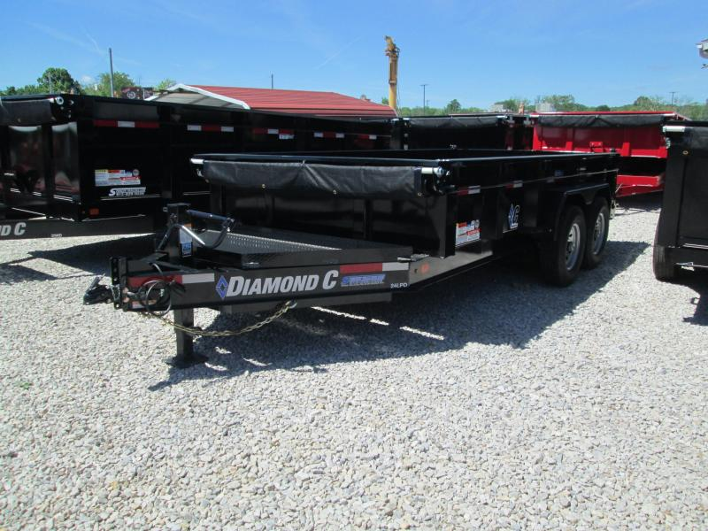 "2018 82""x14' 14900lb GVWR Diamond C Tilt Over Dump. 00484"