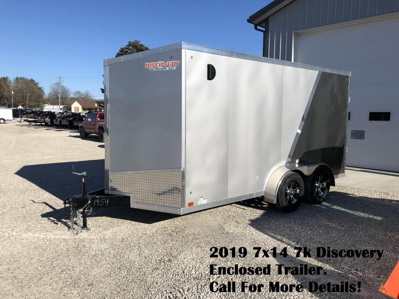 2019 7x14 7k Discovery Enclosed Trailer. 1954