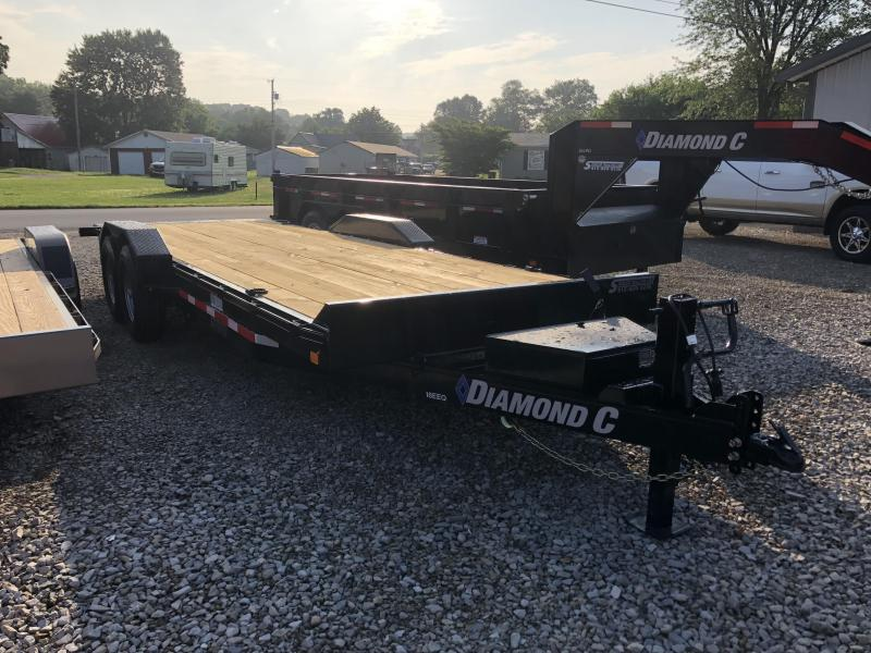 "2018 22'x82"" 14.9K Diamond C Equipment Tilt Trailer. 2823"