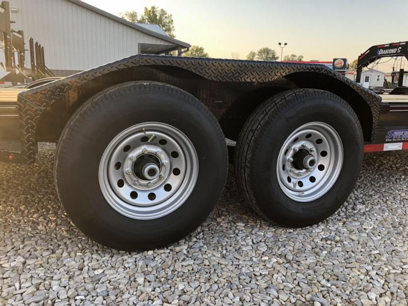 2018 20'+2' 14.9K Diamond C Equipment Trailer. 3674