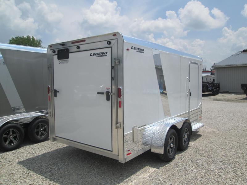 2019 7x17 Legend Deluxe V-nose Enclosed Cargo Trailer